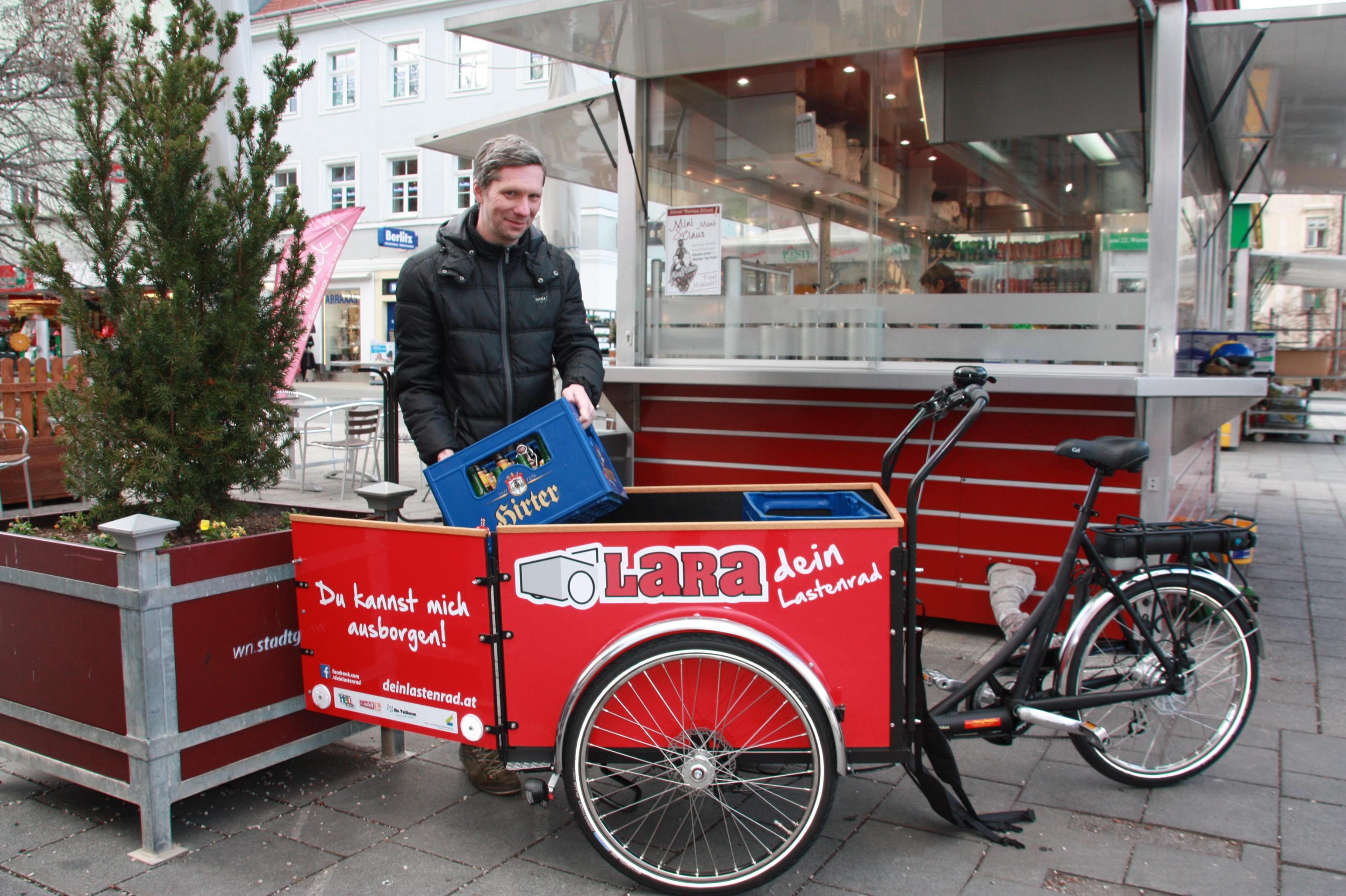 LaRa - dein Lastenrad - Öffentlicher Lastenradverleih in Wiener Neustadt